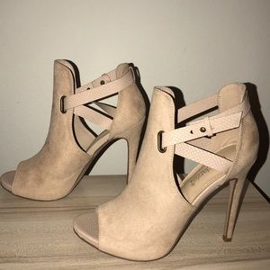NEW Shoedazzle Nude booties
